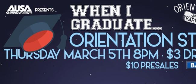 AUSA Orientation Stein: When I Graduate...
