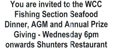 Fishing Section AGM, Prizegiving and Dinner