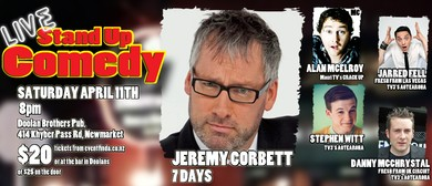 Live Comedy featuring Jeremy Corbett