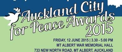 Auckland City for Peace Awards 2015