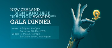 New Zealand Sign Language In Action Awards Gala Dinner 2015