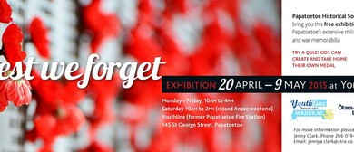 Papatoetoe Historic Society Exhibition - Lest We Forget