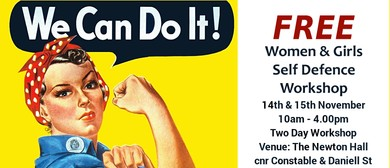 Women/Girls Free Self Defence 2 Day Workshop