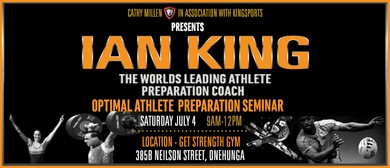 Ian King 'Optimal Athletic Preparation': CANCELLED