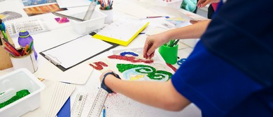 'Stencilling with artist Cerisse Palalagi' for 6-8 year olds
