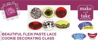 Beautiful Cookies using Flexi Paste Wet Lace with GoBake