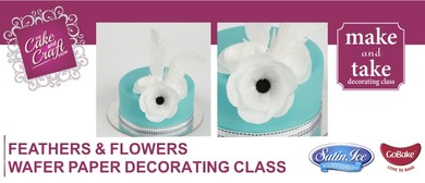 Wafer Paper Feathers & Flowers with GoBake