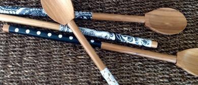 Fabric Decoupage Wooden Spoon Workshop