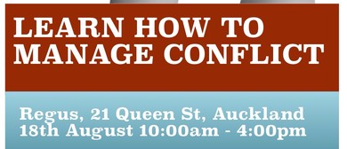 Learn How To Manage Conflict 1-day Workshop