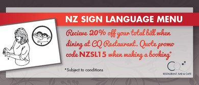 CQ Restaurant NZ Sign Language Menu