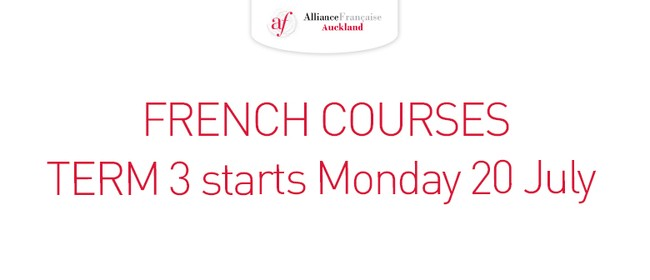 Alliance Francaise French Courses - Term 3