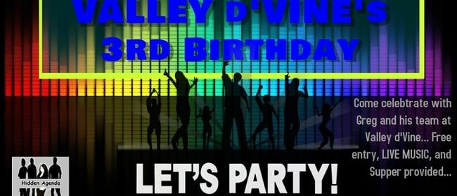 Valley D'vine's 3rd Birthday
