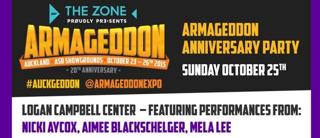 Armageddon 20th Anniversary Party