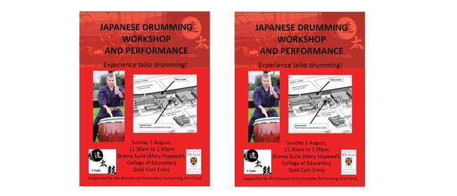 Taiko Drumming Workshop and Performance