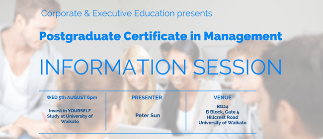 Postgraduate Certificate in Management - Information Session