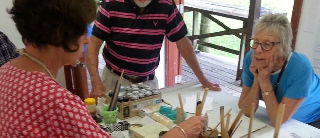 Encaustic Wax Painting Weekend Workshop with Nicki Stewart