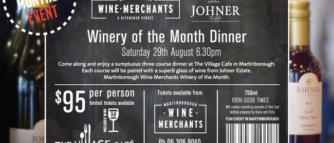 Winery of the Month Dinner