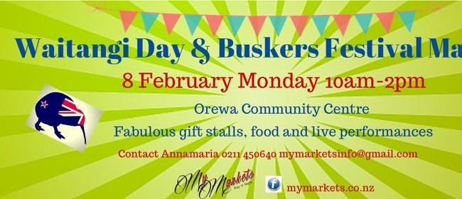 Waitangi Day & Buskers Market