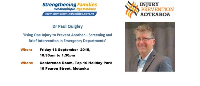 Dr Paul Quigley - reducing alcohol harm - Motueka event