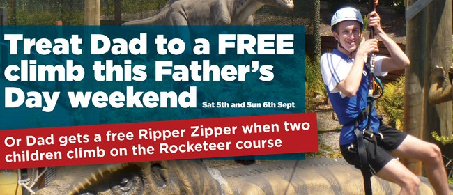Treat Dad this Father's Day at Rocket Ropes