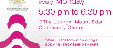 Yoga Mt Eden:Transformational Yoga, Mon with Disha & Utkarsh