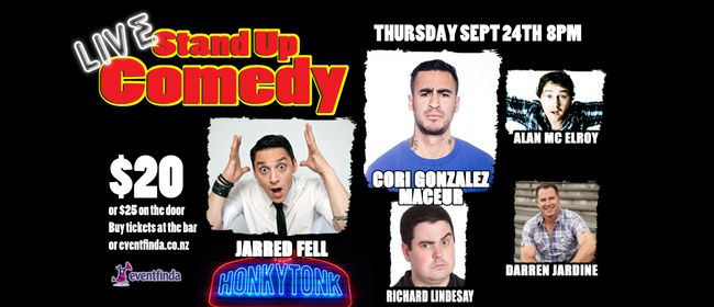 Live Comedy featuring Jarred Fell & Cori Gonzalez Maceur