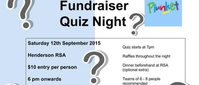 Massey Plunket Playgroup Quiz Night