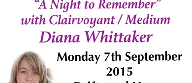An evening with Diana Whittaker