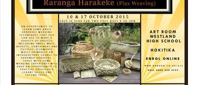 Raranga Harakeke ( Flax Weaving)