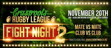 Grassroots Rugby League Fight Night 2