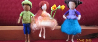 Needle Felting a Limbed Doll
