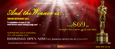 """""""And The Winner Is"""" 2015 IMT Theatre Restaurant"""