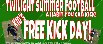 Twilight Football Kids Free Kick Day