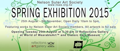 Nelson Suter Art Society: 2015 Spring Exhibition