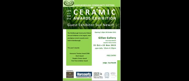 Marlborough Community Potters Ceramic Awards Exhibition 2015