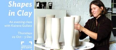 Shapes in Clay: A nightclass in ceramic