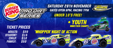 Burger King Pro Dirt Super Saloon Series + Superstock Teams