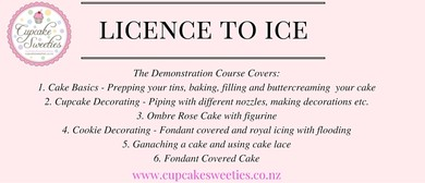 Licenced to Ice - Cake Decorating Series