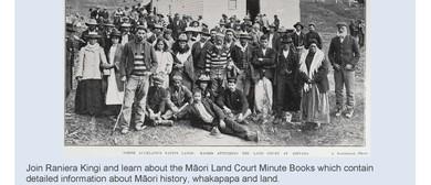Māori Land Court Minute Books with Raniera Kingi
