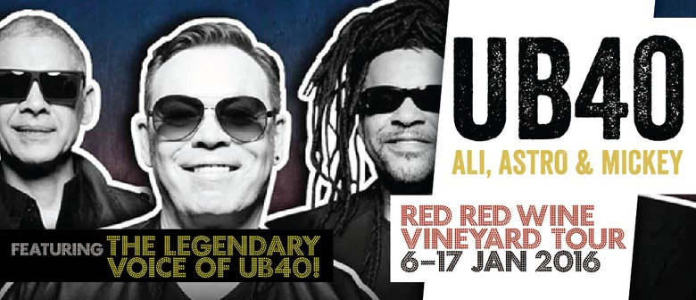 UB40 Red Red Wine Vineyard Tour: SOLD OUT