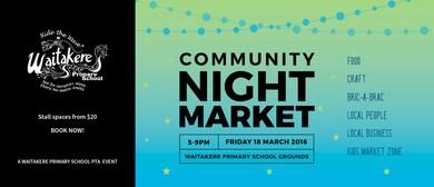 Waitakere Primary School Community Night Market