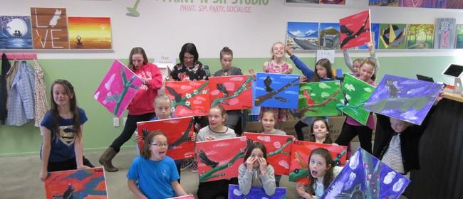 Kids + Parents Paint Session - Paint 'n' Sip Studio