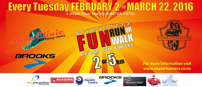 The Shoe Clinic Napier Bluewater5 Fun Runs and Walks