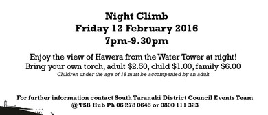 Hawera Water Tower Night Climb