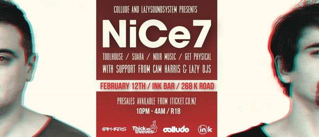 Collude & Lazy present NICe7 (Italy) - Noir Music / Suara