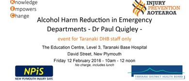 Alcohol Harm Reduction in Emergency Depts - Dr Paul Quigley