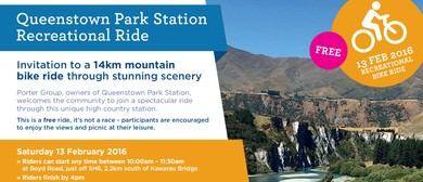 Queenstown Park Station Recreational Ride