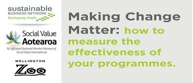 Making Change Matter