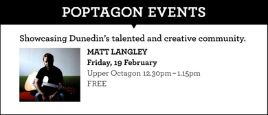 Poptagon Events proudly hosting Matt Langley