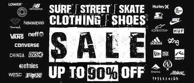 Surf, Street, Skate Clothing & Shoes Pop Up Sale